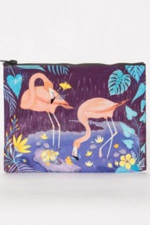 Flamingo Blue-Q Standard Zipper Pouch