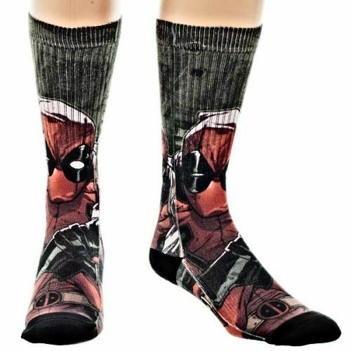 Deadpool Crew Socks Sublimated Panel