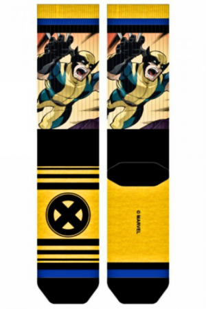 Wolverine X-Men Sub Panel Crew Socks