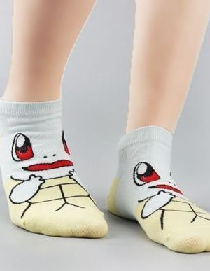 Squirtle Anime Pokemon Low Cut Ankle Sock Stitched Side