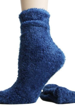 Fuzzy Foot Traffic Microfiber Socks Royal