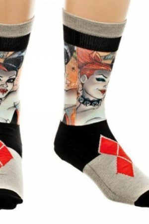 Harley Quinn Sublimated Panel Premium Crew Socks