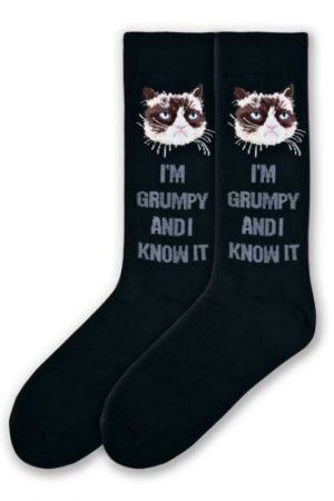 I'm Grumpy & I Know It K Bell Crew Socks