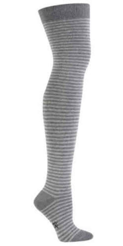 Light Grey & Heather Thin Stripe Over the Knee Socks