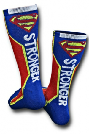 Superman Text Active Crew Socks