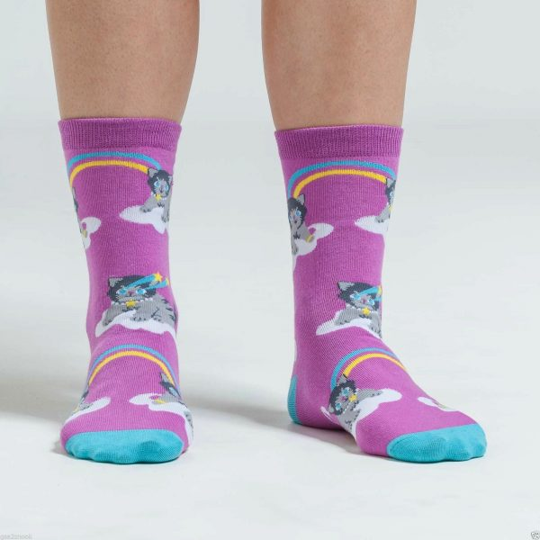 A Purr-fect World Trouser Crew Socks