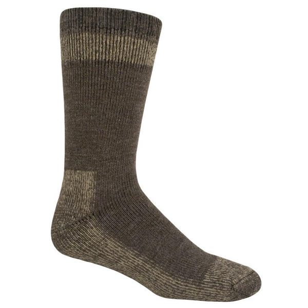 Outdoor Boot Crew Socks Brown Wool Blend