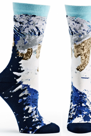 Snow Leopards Ozone Crew Socks