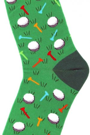 Golf Foot Traffic Trouser Crew Socks Green