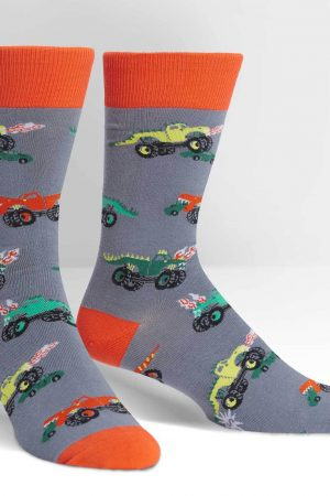 Monster Trucks Dress Crew Socks
