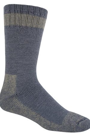 Outdoor Boot Crew Socks Charcoal Wool Blend