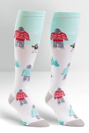 Yeti Family in Sweaters Knee High Socks