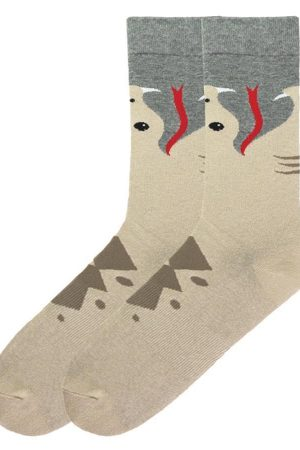 Snake K Bell Wide Mouth Bite Dress Crew Socks