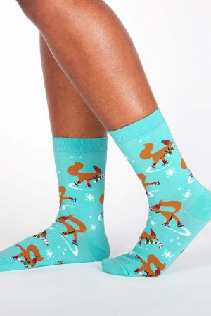 Peppermint Squirrels Trouser Crew Socks