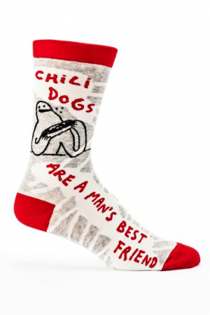 Chili Dogs are a Man's Best Friend Blue-Q Dress Crew Socks
