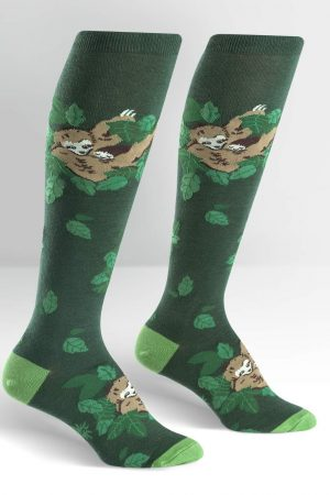 Sleepy Sloth Knee High Socks