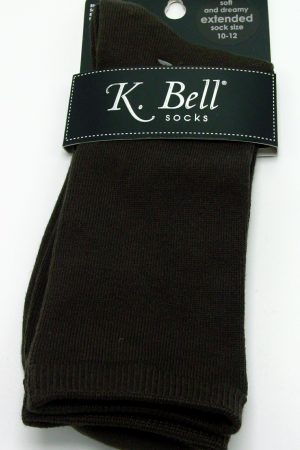 Soft & Dreamy K Bell Crew Socks Brown