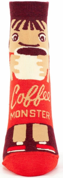 Coffee Monster Blue-Q Ankle Socks