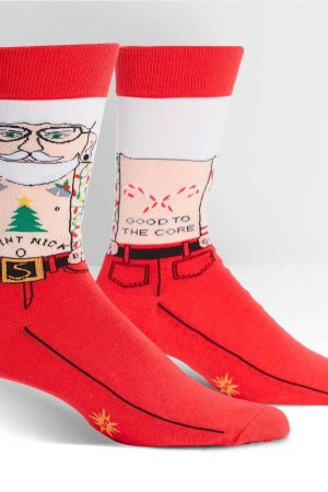 Saint Nick Dress Crew Socks