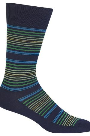 Thin Stripes Hot Sox Dress Crew Socks
