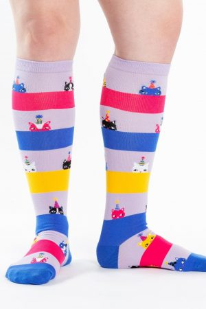 Happy Purr-day! Knee High Socks