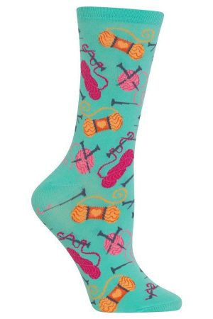 Yarn & Knitting Needles Hot Sox Trouser Crew Socks Mint