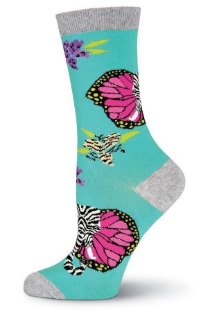 Hidden Elephant K Bell Crew Socks