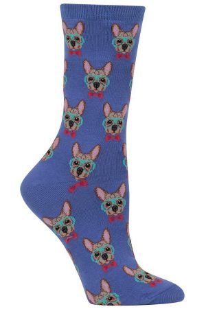 Smart Frenchie Puppy Hot Sox Trouser Crew Socks