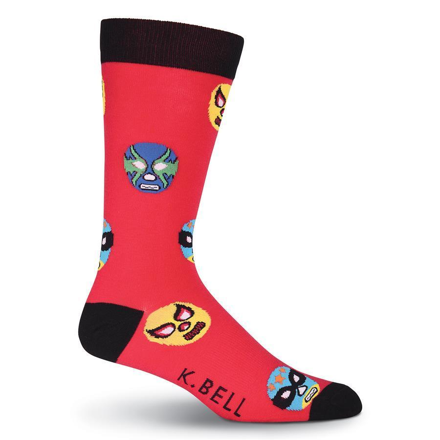 Luchadores K Bell Dress Crew Socks Red