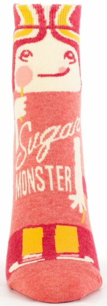 Sugar Monster Blue-Q Ankle Socks