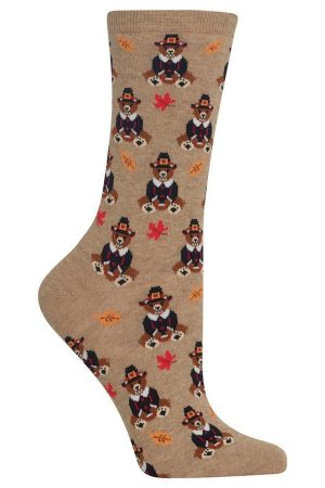 Pilgrim Bears Hot Sox Trouser Crew Socks Hemp