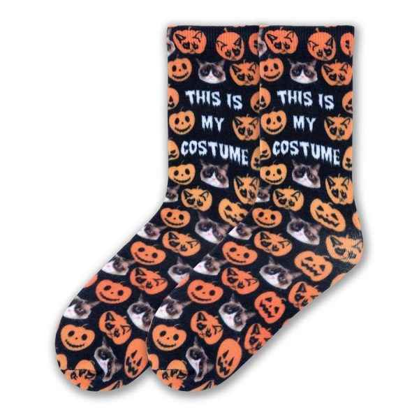 This is My Costume K Bell Crew Socks