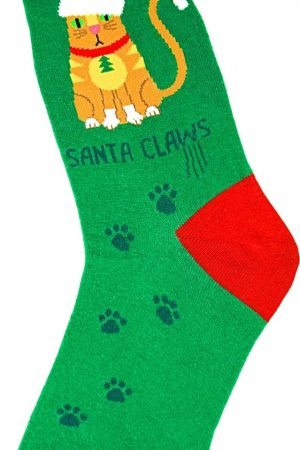 Santa Claws Foot Traffic Trouser Crew Socks