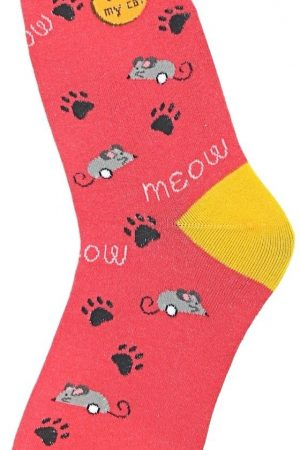 I Luv My Cat Foot Traffic Trouser Crew Socks