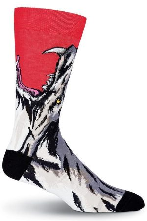 Wolf Bite K Bell Dress Crew Socks