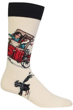 Look Out Below Hot Sox Dress Crew Socks