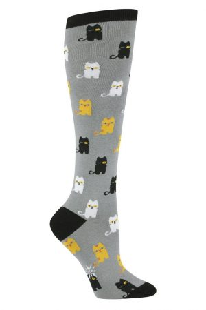 Winking Kitty Cats Knee High Socks