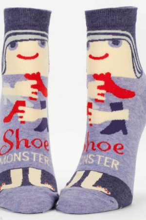 Shoe Monster Blue-Q Ankle Socks