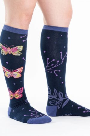 Madame Butterfly Knee High Socks