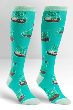 Terrific Plant Jars Knee High Socks