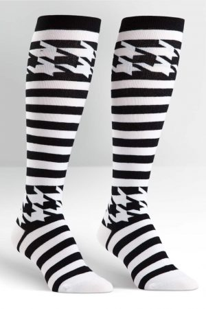 Mondo Guerra Houndstooth Knee High Socks