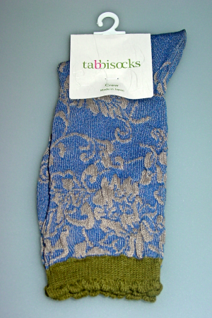 Evening Garden Pacific Peri Dress Crew Socks
