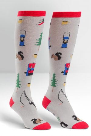 Happy Camper Knee High Socks