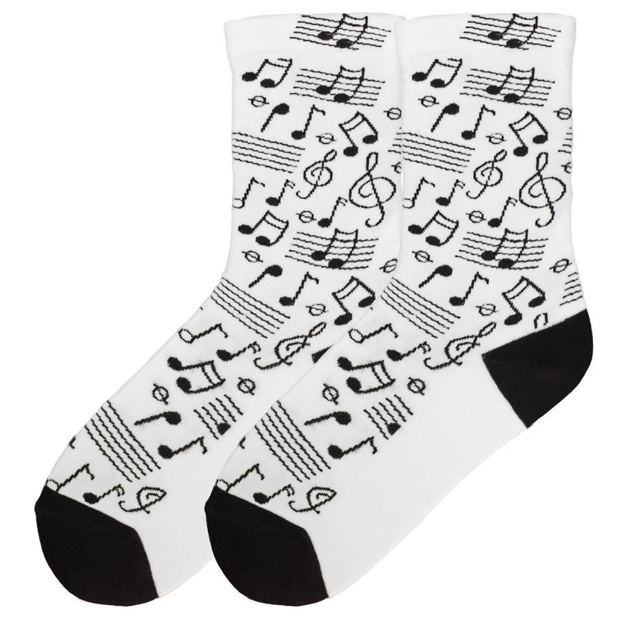 Music Note K Bell Crew Socks