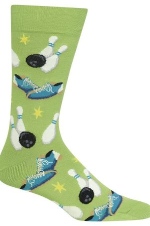 Bowling Hot Sox Dress Crew Socks Grass Green