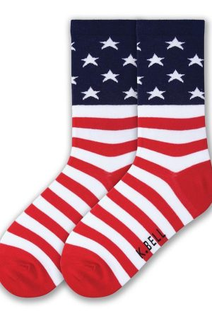 Flag USA K Bell Crew Socks