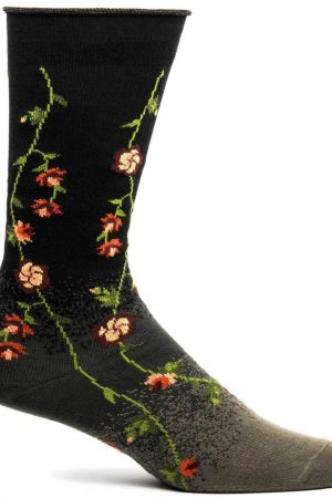 Tibetan Flowers Ozone Dress Crew Socks