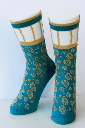 Moroccan Paisley Trouser Crew Socks Sample
