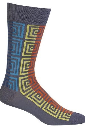 Optical Boxes Hot Sox Dress Crew Socks Dark Grey