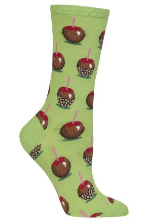 Candy Apples Hot Sox Trouser Crew Socks Lime